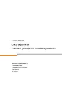 LIIKE-ohjausmalli   toimintamalli fysioterapeuteille liikkumisen ohjauksen  tueksi 34e77748c1