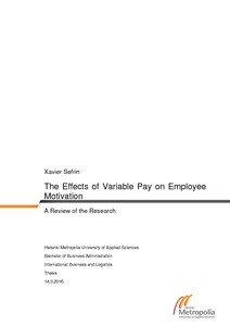 the effects of variable pay on employee motivation a review of the effects of variable pay on employee motivation a review of the research