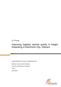 Improving logistics service quality in freight- forwarding in