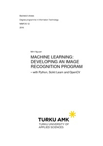 Machine Learning: developing an image recognition program