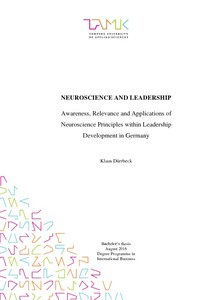 Neuroscience and leadership : awareness, relevance and