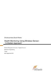Health Monitoring Using Wireless Sensor Network: