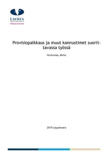 Provisiopalkkaus