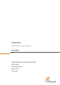 Building framework of change management