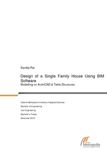Design of a Single Family House Using BIM Software