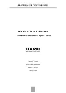 Procurement Process Design