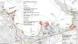 Lappeenrannan Sunisenselan Rantaraitin Yleissuunnitelma Valilla