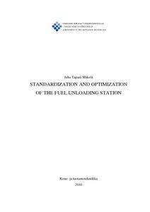 standardization and optimization of the fuel unloading station