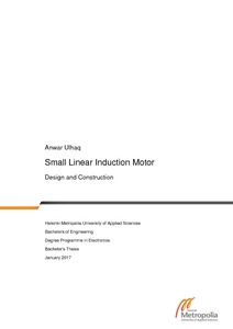 Small Linear Induction Motor : Design and Construction