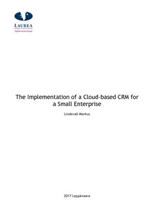 c912b0ef The Implementation of a Cloud-based CRM for a Small Enterprise