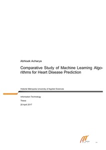 Comparative Study of Machine Learning Algorithms for Heart