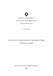 Satakunnan ammattikorkeakoulu Satakunta University of Applied