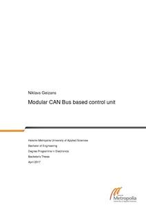Modular CAN Bus based control unit