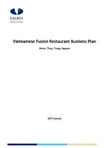 Avaa Tiedosto Vietnamese Fusion Restaurant Business Plan Pdf