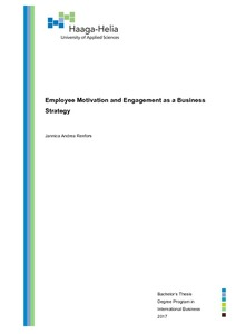 employee motivation and engagement as a business strategy