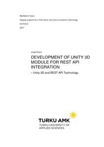 Development of Unity 3D Module For REST API Integration
