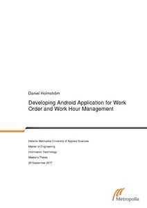 Developing Android Application for Work Order and Work Hour Management