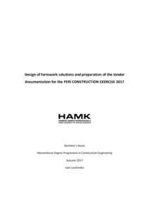 PERI FORMWORK SOLUTIONS : CONSTRUCTION EXERCISE 2016/2017
