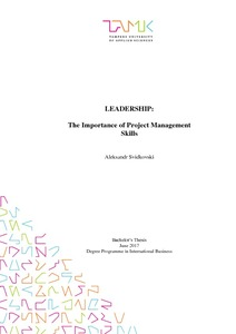 Leadership : the importance of project management skills