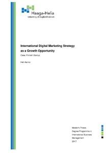 International Digital Marketing Strategy as a Growth
