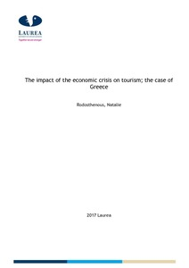 The impact of the economic crisis on tourism