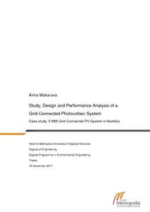 Study, Design and Performance Analysis of a Grid-Connected