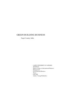GREEN BUILDING BUSINESS