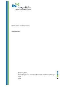 How to conduct an office renovation Stefan Sjöström Bachelor's