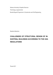 CHALLENGES OF STRUCTURAL DESIGN OF IN- DUSTRIAL