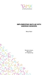 Implementing MATLAB with Android sensors