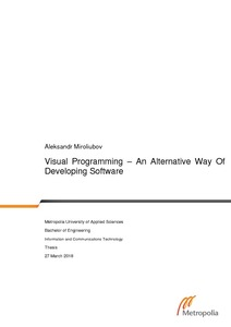 Visual Programming - An Alternative Way Of Developing Software