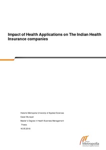 Health Insurance Companies >> Impact Of Health Applications On The Indian Health Insurance