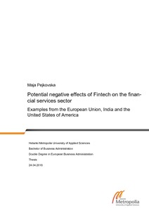 Potential negative effects of Fintech on the financial services