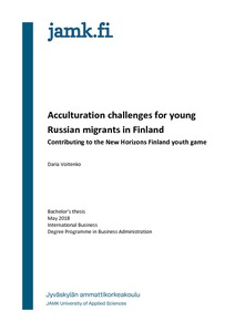 Acculturation challenges for young Russian migrants in Finland