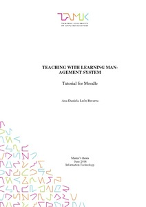 Teaching with Learning Management System : Tutorial for Moodle