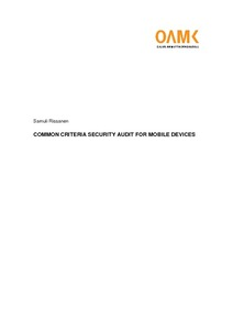 Common Criteria Security Audit for Mobile Devices