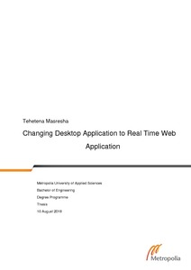 Changing Desktop Application to Real Time Web Application