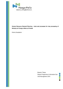 Human Resource Demand Planning – tools and processes for visa