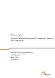 Mohamed Dagher Improving Functional Performance of The