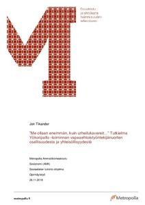 Tutkielma Yökoripallo -toiminnan vapaaehtoistyöntekijänuorten  osallisuudesta ja yhteisöllisyydestä  1a88a3527d
