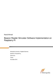 Beacon Reader Simulator Software Implementation on Raspberry Pi