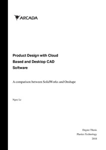 Product Design with Cloud Based and Desktop CAD Software