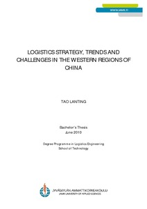 Logistics strategy,trends and challenges in the western