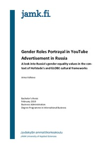 Gender Roles Portrayal in YouTube Advertisement in Russia