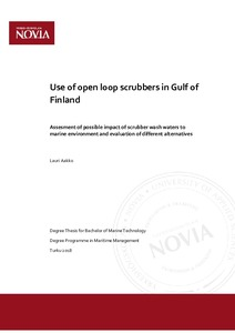 Use of open loop scrubbers in Gulf of Finland