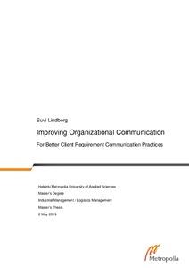 Buy organizational communication thesis