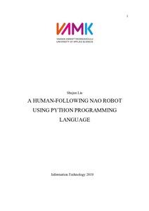 A HUMAN-FOLLOWING NAO ROBOT USING PYTHON PROGRAMMING LANGUAGE
