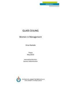 glass ceiling thesis