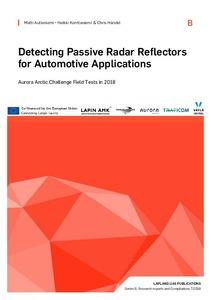 Detecting Passive Radar Reflectors for Automotive Applications
