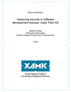 Improving security in software development process: Case